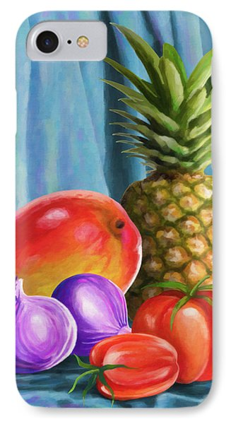 Three Fruits And A Vegetable IPhone Case