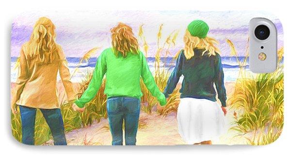 Three Girls At The Beach IPhone Case