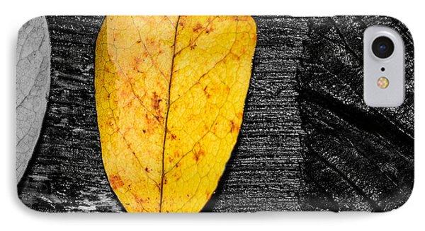 Three Leaves On Wood Texture IPhone Case