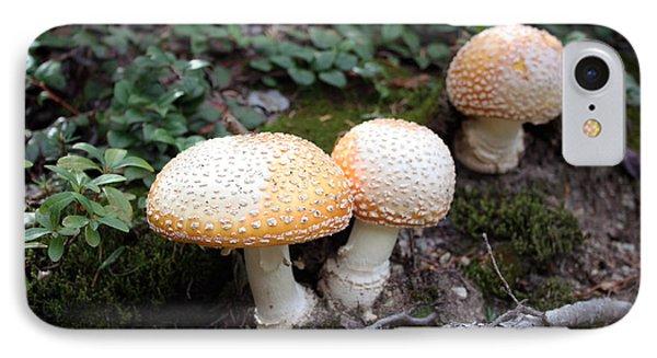 Three Mushrooms IPhone Case