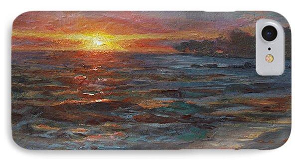 Through The Vog - Hawaii Beach Sunset IPhone Case