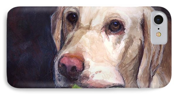 Dog iPhone 8 Case - Throw The Ball by Molly Poole