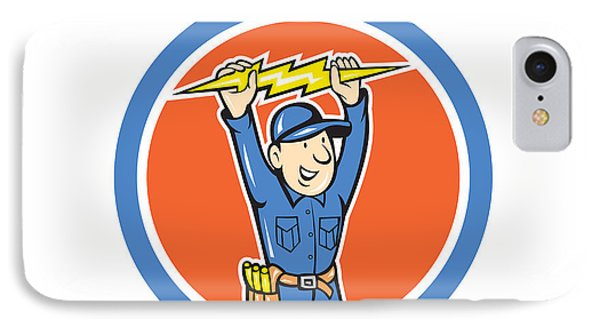 Thunderbolt Toolman Electrician Lightning Bolt Cartoon IPhone Case