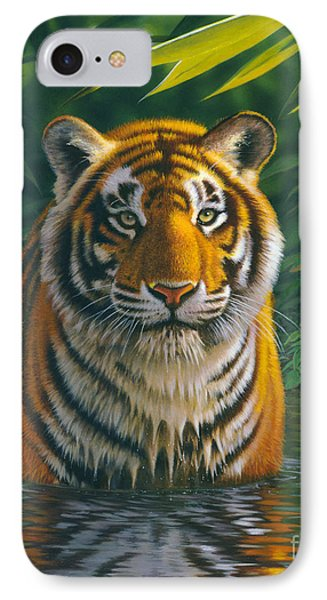 Tiger Pool IPhone Case