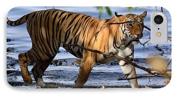 Tigress Along The Banks IPhone Case