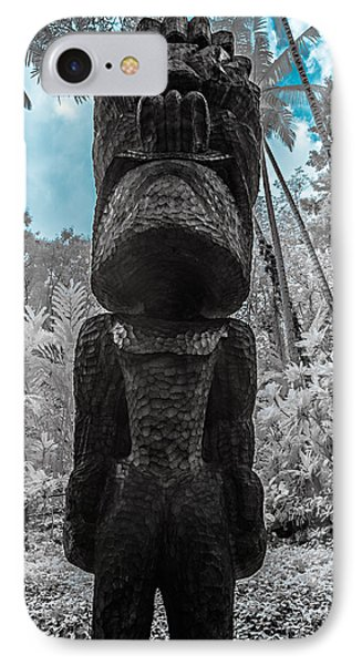 Tiki Man In Infrared IPhone Case