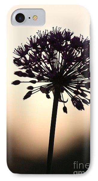 Tilted Silhouette Allium IPhone Case