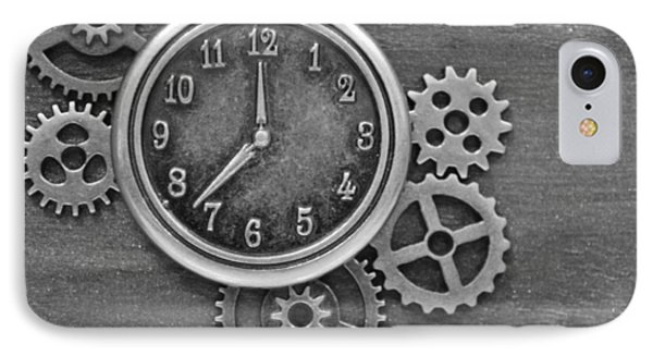 Time In Black And White IPhone Case