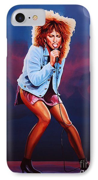 Rhythm And Blues iPhone 8 Case - Tina Turner by Paul Meijering