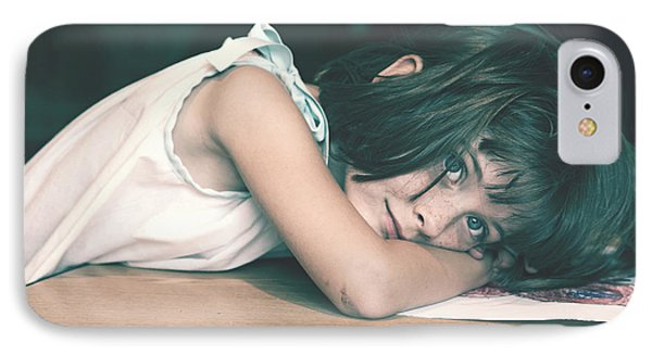 Tired Girl By Jan Marvin IPhone Case
