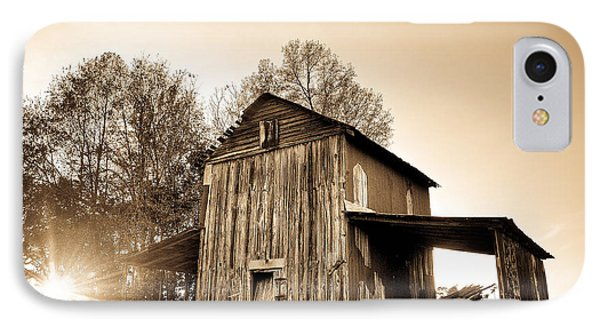 Tobacco Barn In Sunset IPhone Case