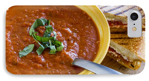 Tomato And Basil Soup With Grilled Cheese Panini IPhone Case