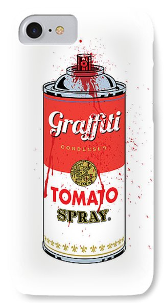 Print iPhone 8 Case - Tomato Spray Can by Gary Grayson