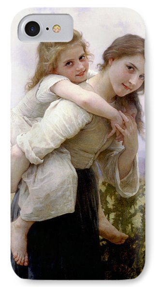 IPhone Case featuring the digital art Too Much To Carry by Bouguereau