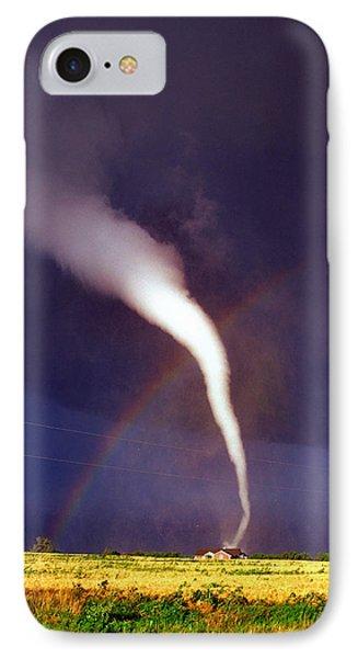 Tornado With Rainbow In Mulvane Kansas IPhone Case