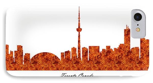 Toronto Canada Raging Fire Skyline IPhone Case