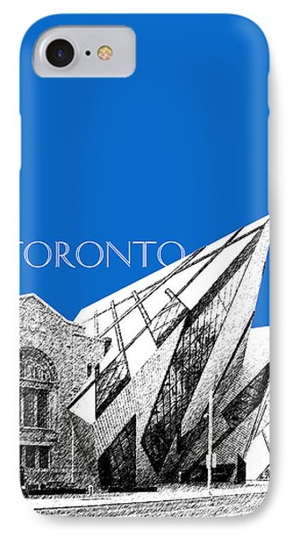 Toronto Skyline Royal Ontario Museum - Blue IPhone Case