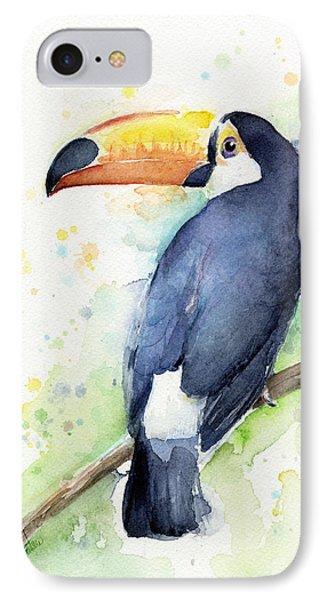 Toucan Watercolor IPhone Case