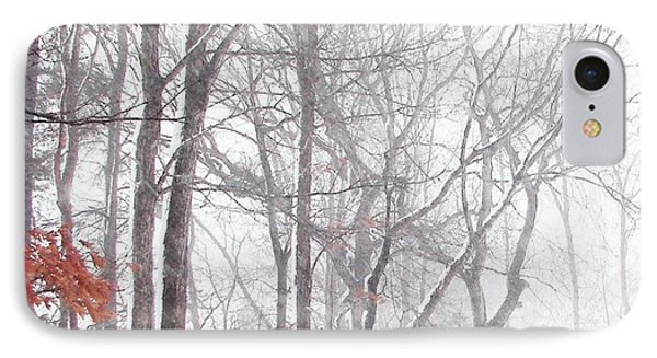 Touch Of Fall In Winter Fog IPhone Case