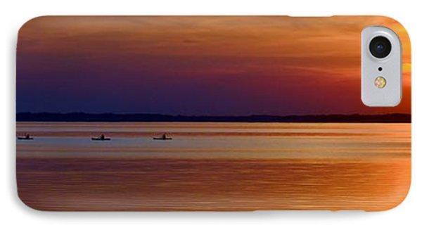 Tours End - Kayak Sunset Photo IPhone Case