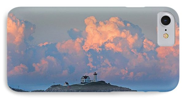 Towering Clouds Over Nubble Lighthouse York Maine IPhone Case