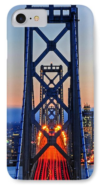 Towers Of The Bay Bridge Perfectly Aligned IPhone Case