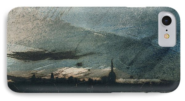 Town At Dusk IPhone Case