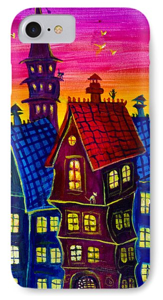 Town At Twilight IPhone Case