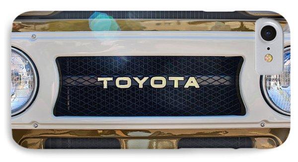 Toyota Land Cruiser Grille Emblem  IPhone Case