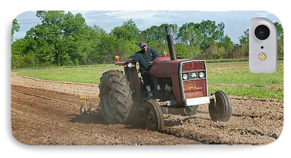 Tractor Ploughing A Field IPhone Case