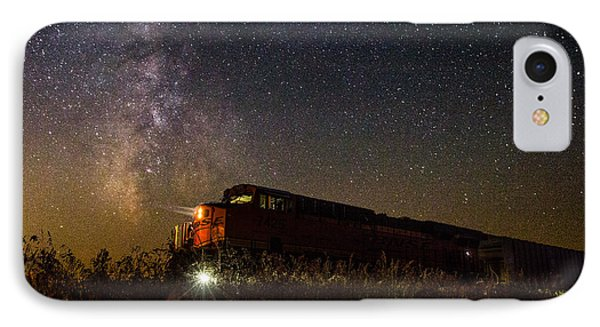 Train iPhone 8 Case - Train To The Cosmos by Aaron J Groen