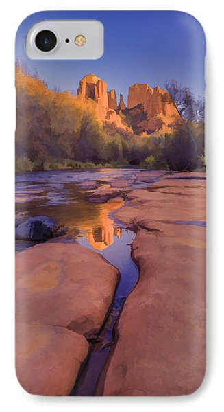 Tranquil Fire Watercolor IPhone Case