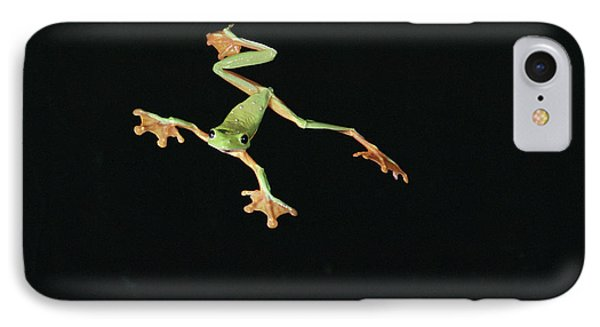 Tree And Leaf Frog Jumping IPhone Case