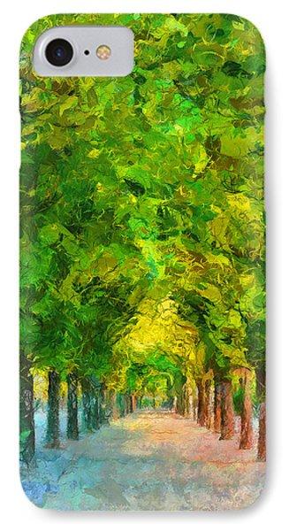 Tree Avenue In The Vienna Augarten IPhone Case