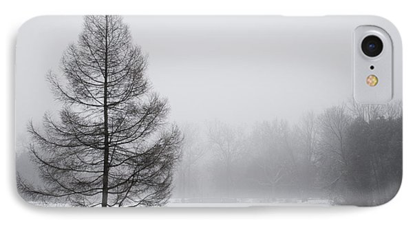 Tree By The Snowy Lake IPhone Case