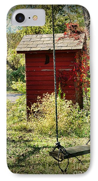 Tree Swing By The Outhouse IPhone Case