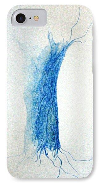 Tree Weaving In Blue IPhone Case