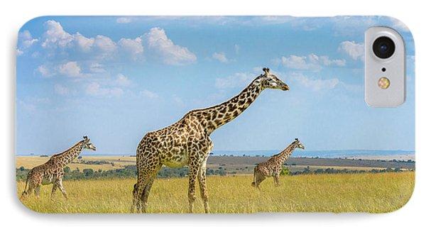 Trio Giraffes IPhone Case