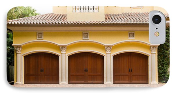 Triple Garage Doors IPhone Case