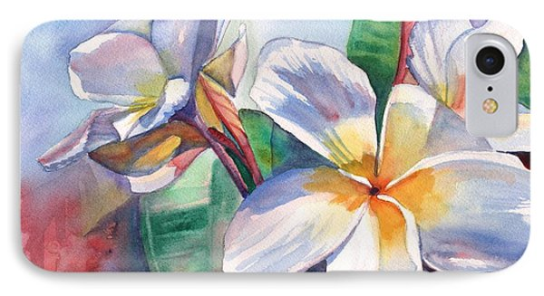 Tropical Plumeria Flowers IPhone Case