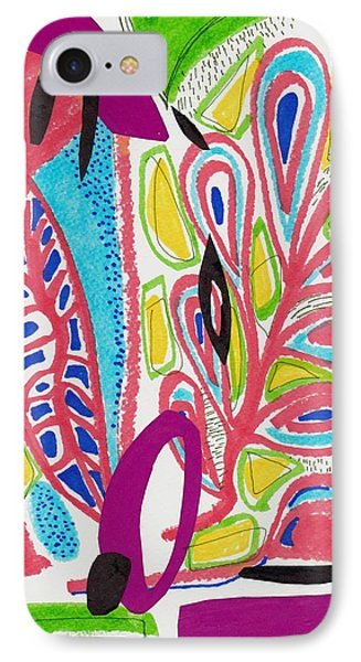 Tropical Shapes Abstract Collage IPhone Case