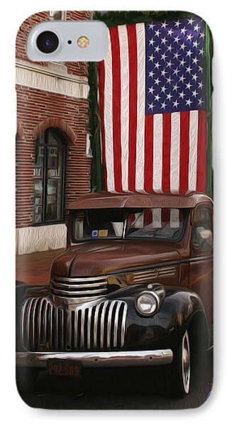 Truckin Old Glory IPhone Case