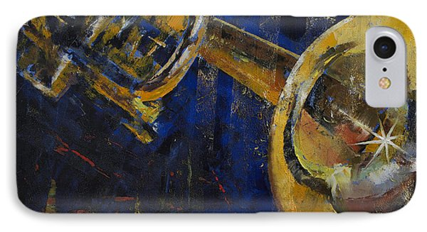 Trumpet iPhone 8 Case - Trumpet by Michael Creese
