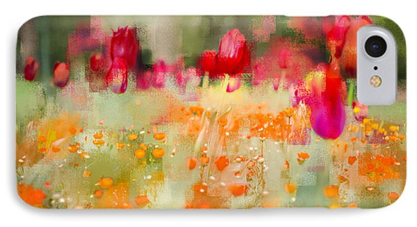 Tulips And Daisies IPhone Case