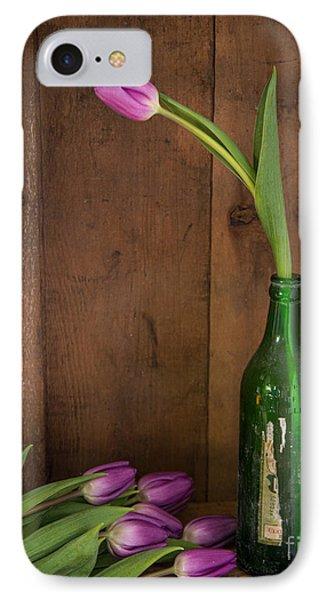 Tulips Green Bottle IPhone Case