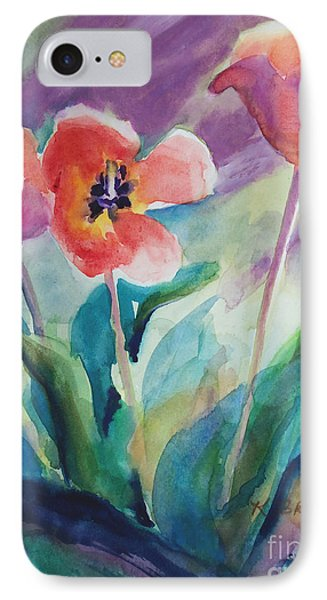 Tulips With Lavender IPhone Case