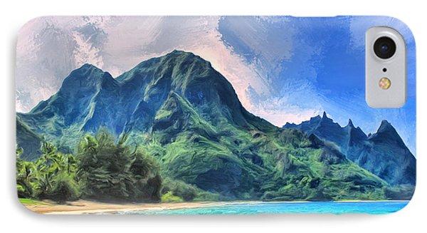 Tunnels Beach Kauai IPhone Case