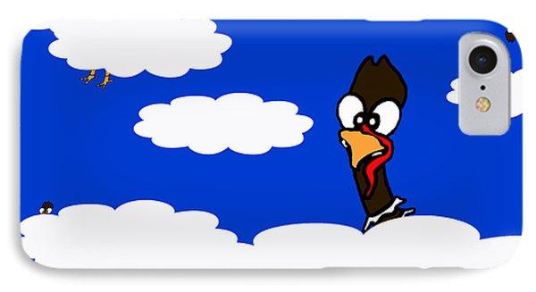 Turkeys In Flight IPhone Case