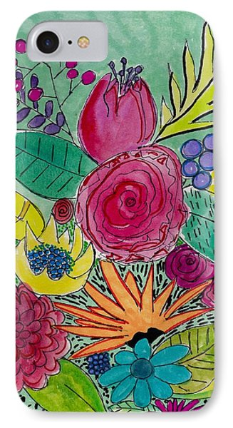 Turquoise Flower Garden IPhone Case