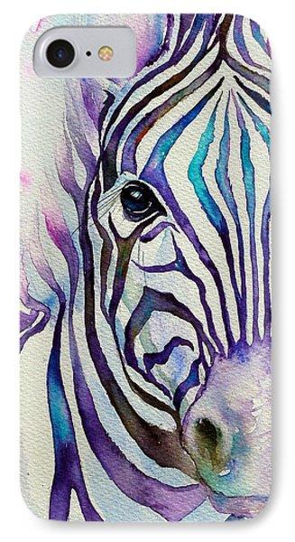 Turquoise Stripes Zebra IPhone Case